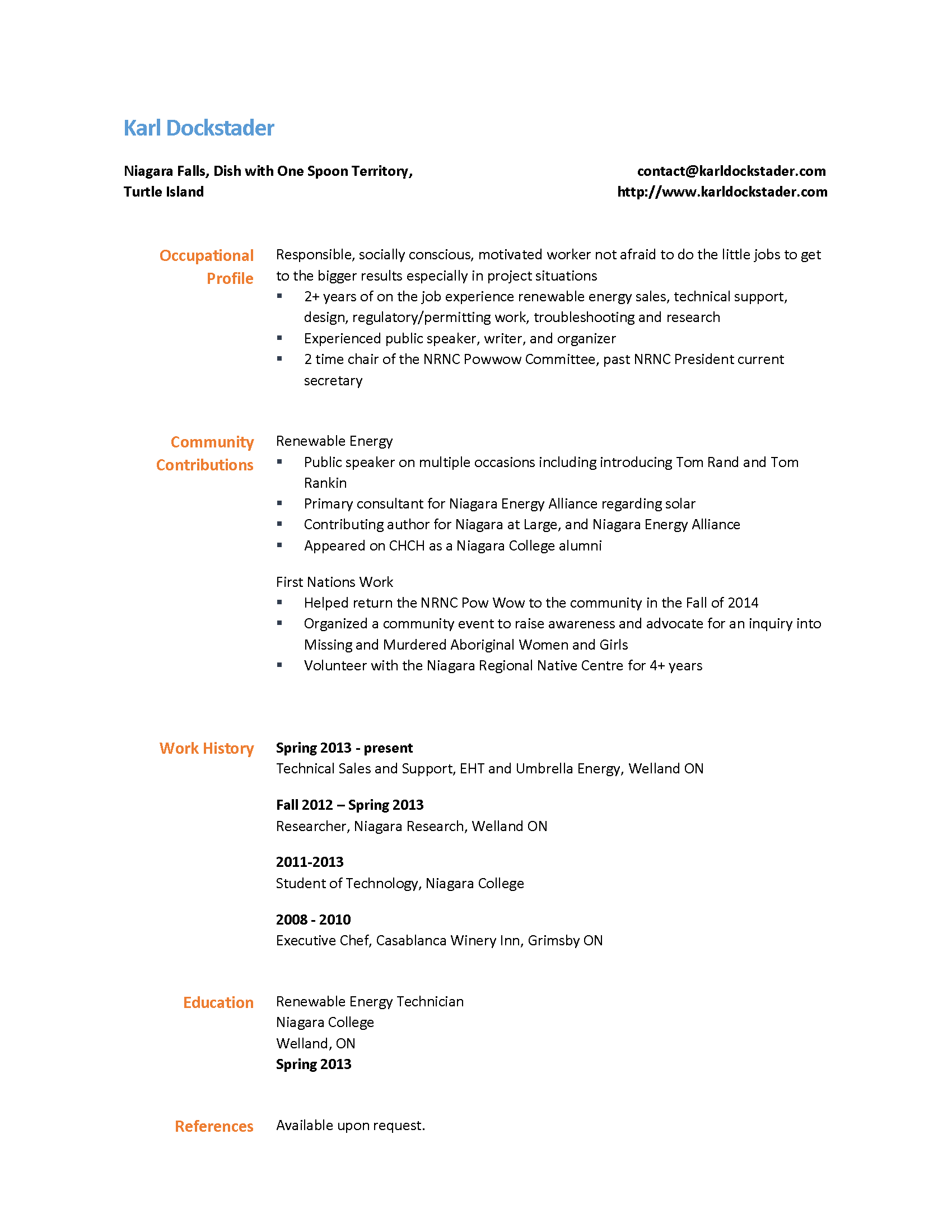 Perfect Energy Regulatory Resume Pattern - Administrative Officer ...
